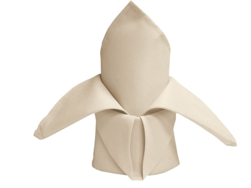ivory 20 x 20 polyester napkin