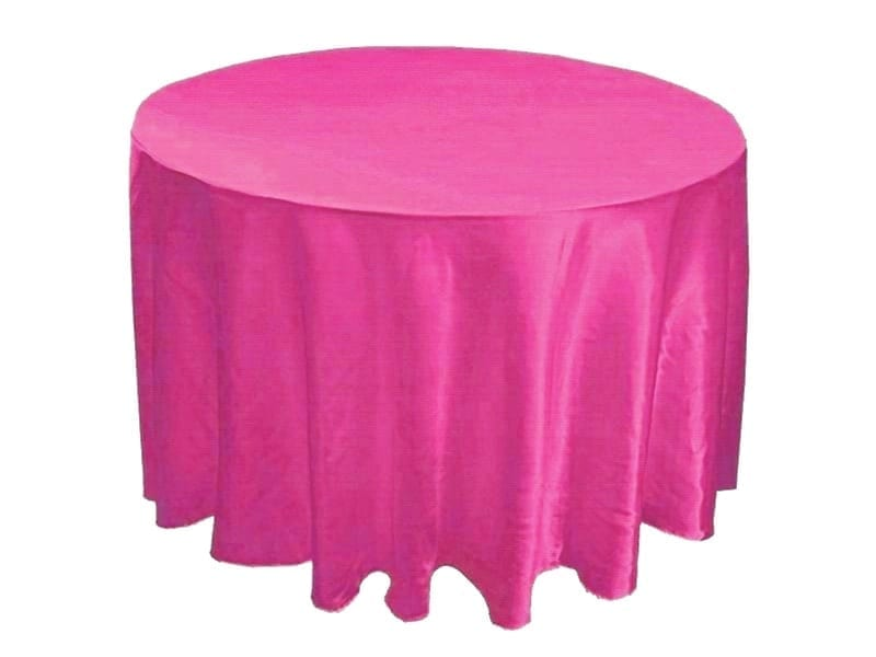 fuchsia pink basic tablecloth