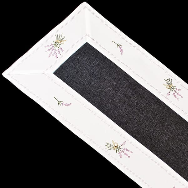 purple lavender/lilac table runner