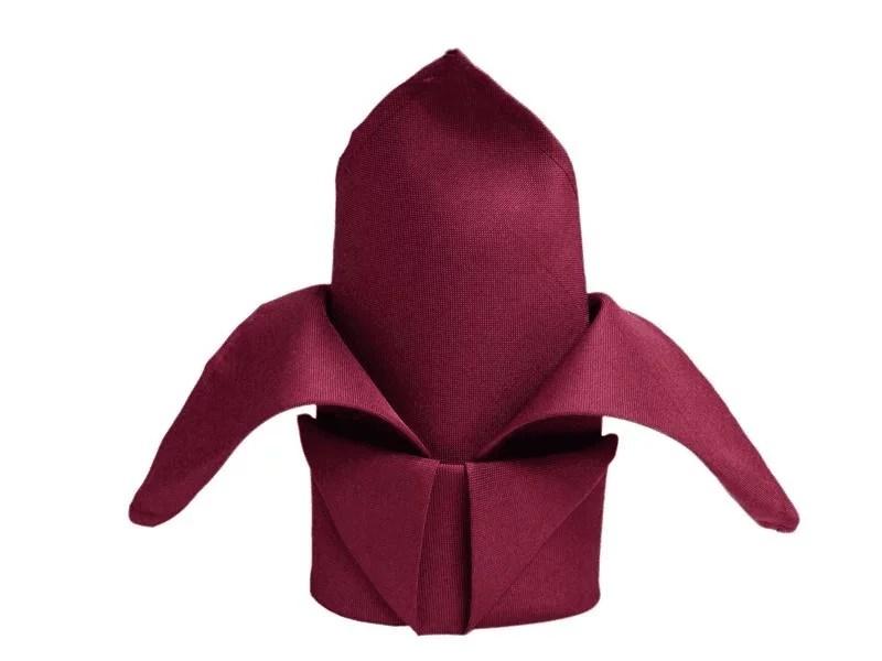 burgundy 20 x 20 polyester napkin