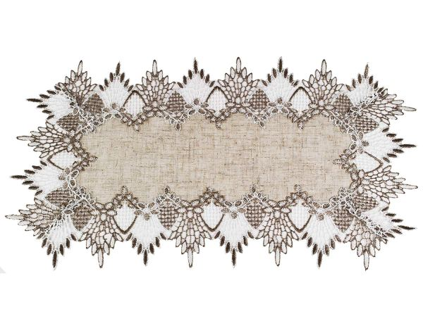 neutral beige earth tones lace placemats-sold in set of 2