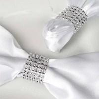 rhinestone bling napkin ring (set of 4)