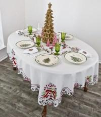 christmas candy cane tablecloth doily