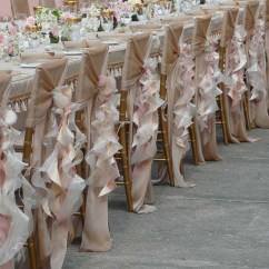 Chair Pad Covers Wedding Camp Rocking Willow Sash Dusty Rose
