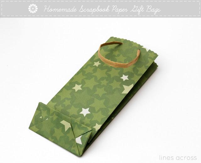 Homemade Scrapbook Paper Gift Bags