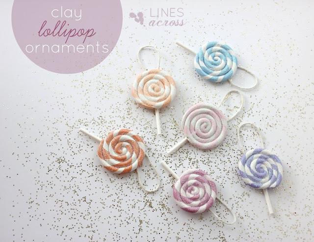 Clay Lollipop Ornaments