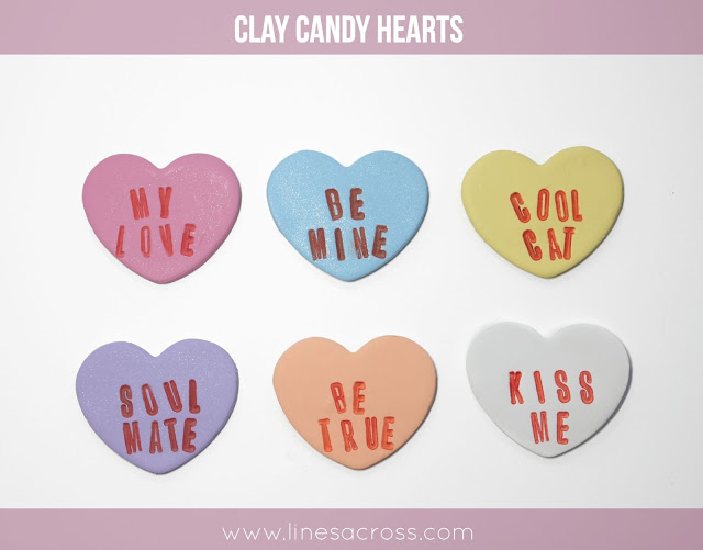 DIY Clay Candy Hearts