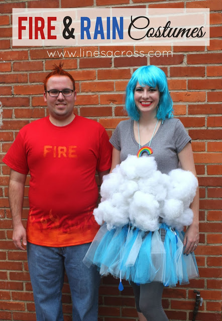 DIY Fire and Rain Costumes