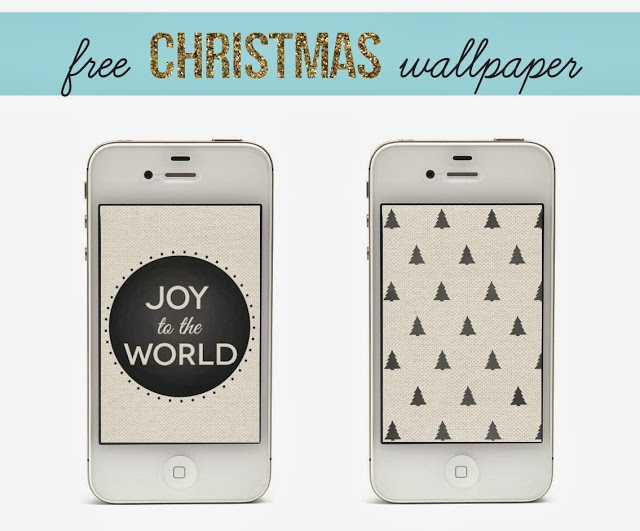 Free Black and White Christmas iPhone Wallpaper