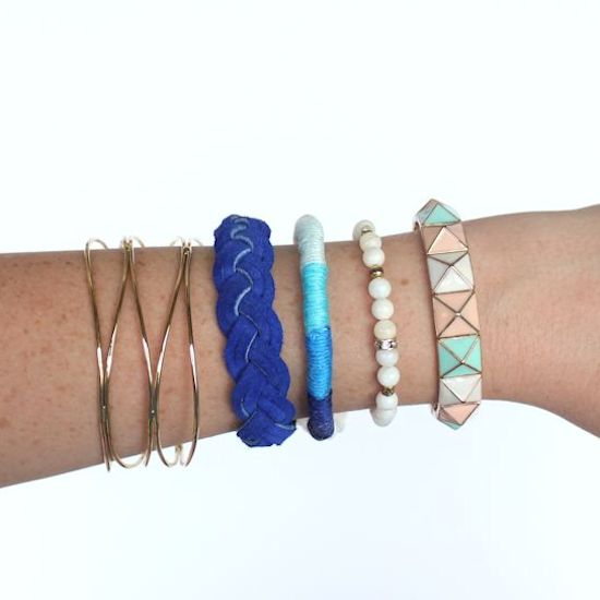 DIY Thread Wrapped Ombre Bracelet