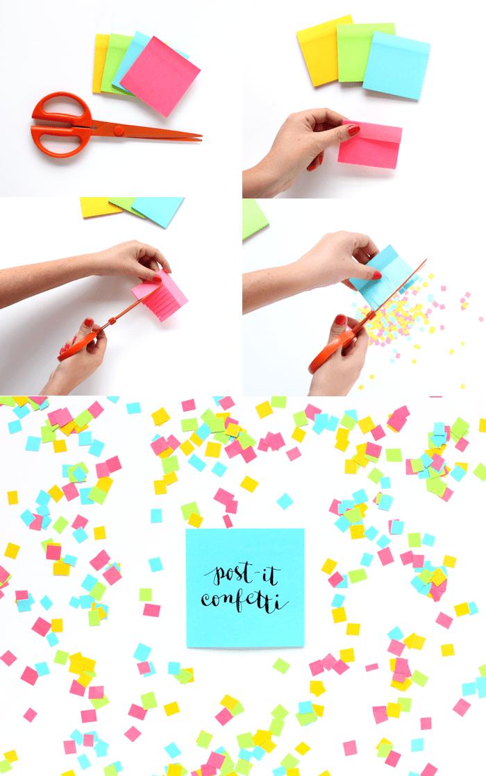 DIY Post it note confetti