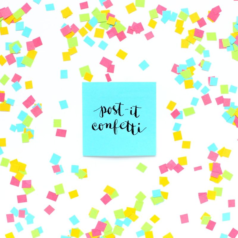 DIY Post-it Note Confetti
