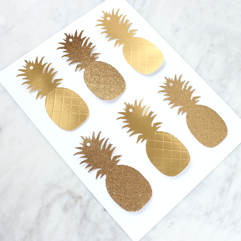 Gold Pineapple Gift Tags