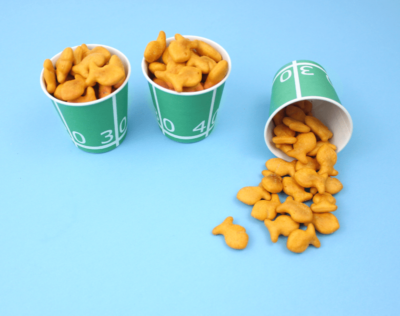 Free Printable Football Field Yards Snack Cups