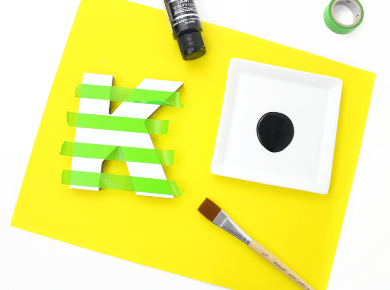 Striped Painted Letter K