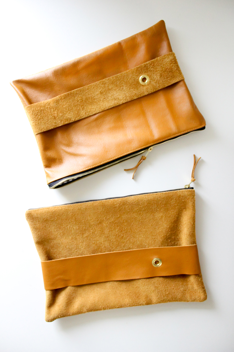 leather clutch gift