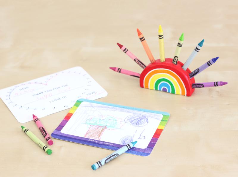 DIY Rainbow Crayon Holder Tutorial