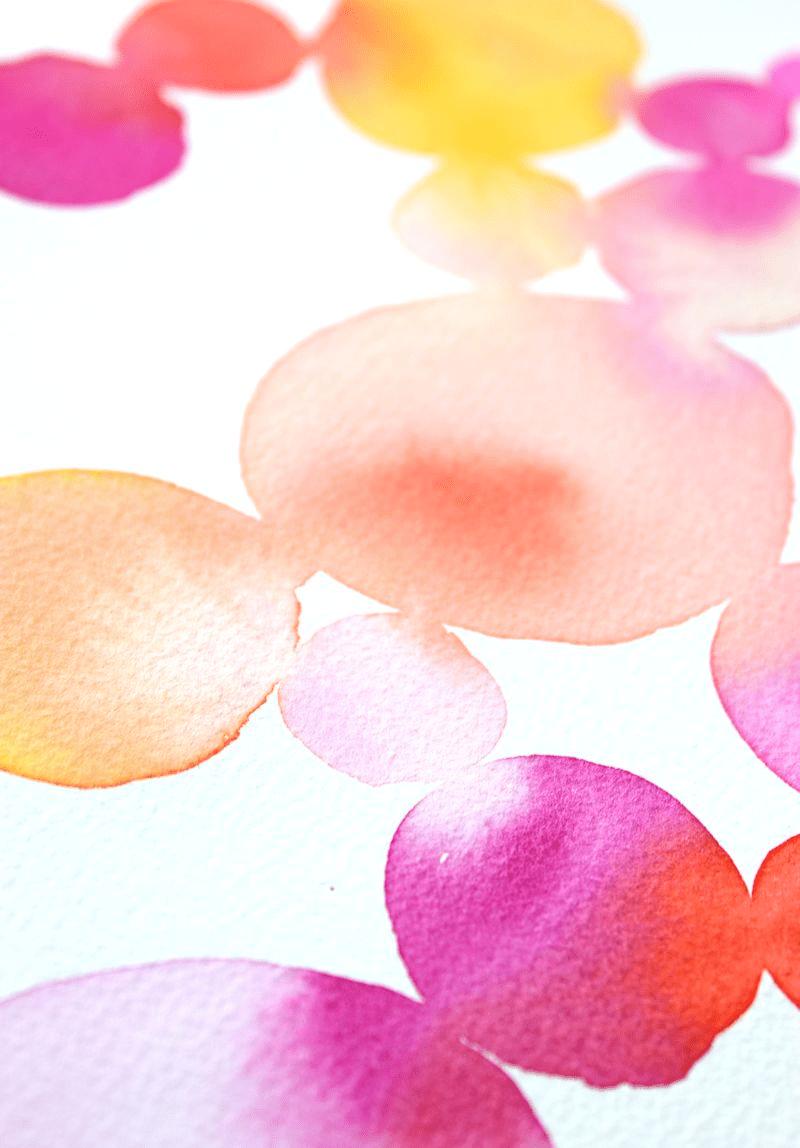 Watercolor Circles @linesacross