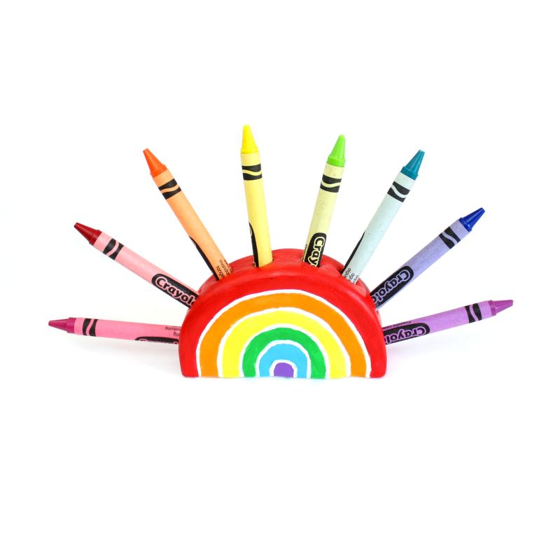 DIY Rainbow Crayon Holder and the Coolest Thank You Cards Ever