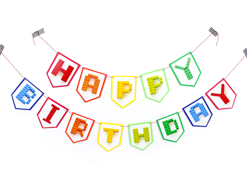 graphic relating to Printable Lego Letters known as Creating Block Birthday Get together Banner - Traces Throughout