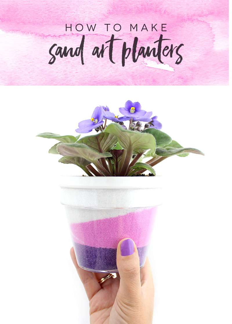 How to make sand art planters