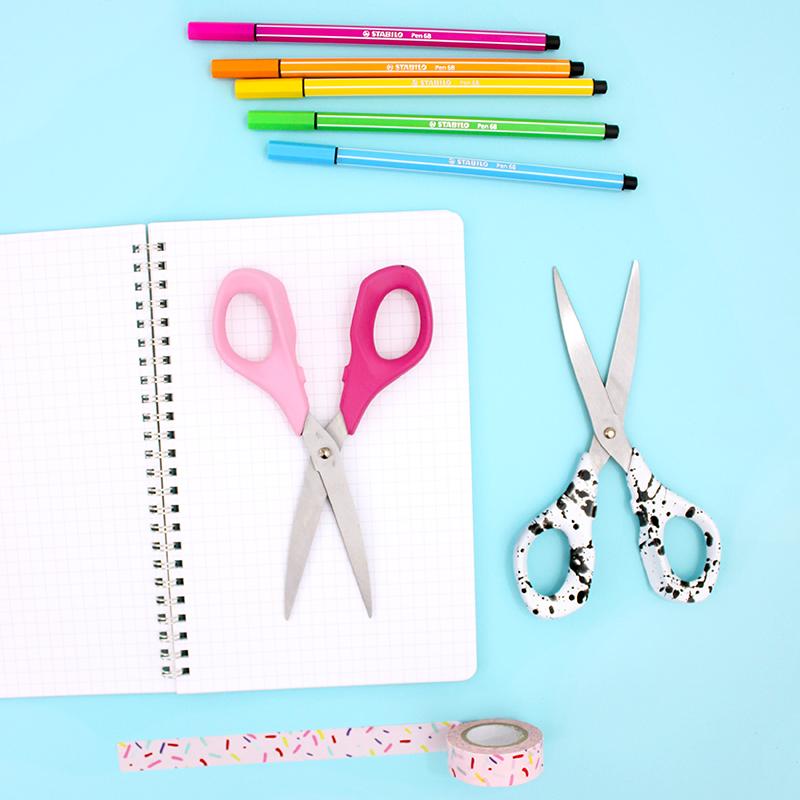 square - two toned scissors