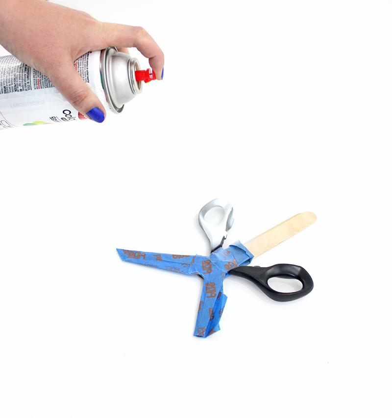 step 2 - colorful scissors