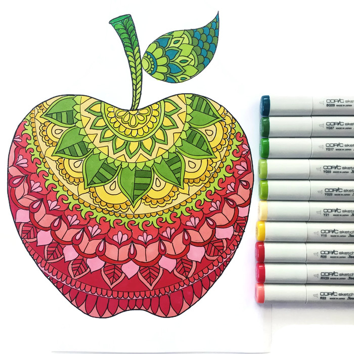 Apple coloring page - Sam - Thrive 360 Living