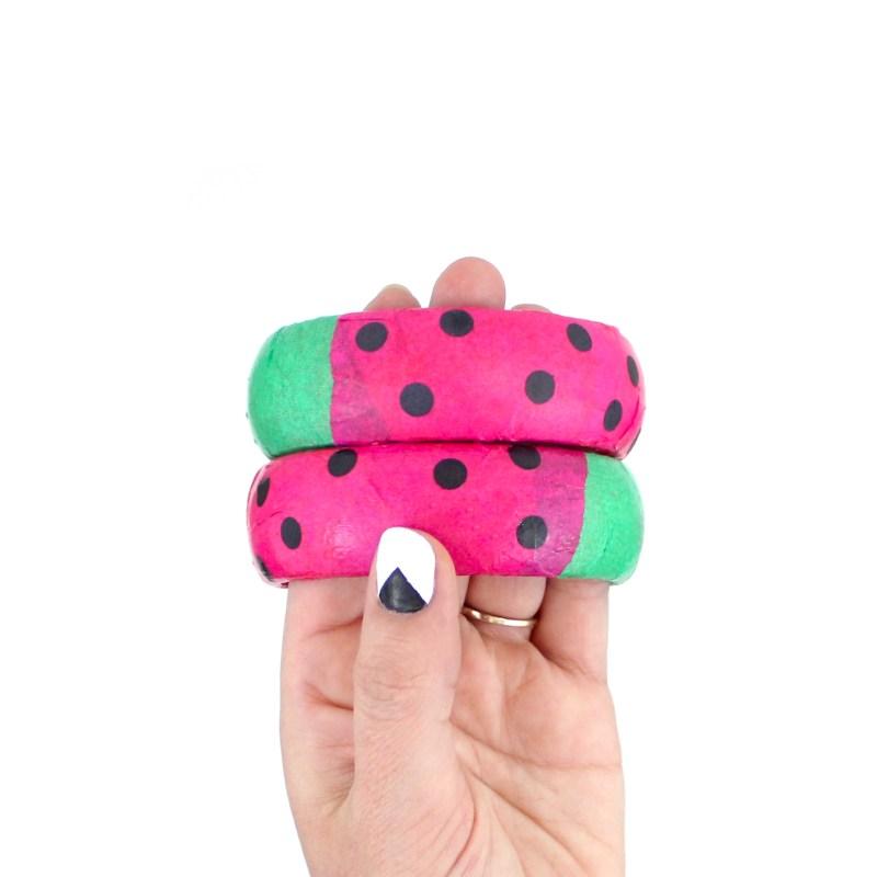 Watermelon wooden bracelets tutorial