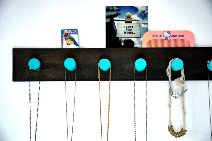black-and-teal-wooden-painted-jewlery-organization-diy
