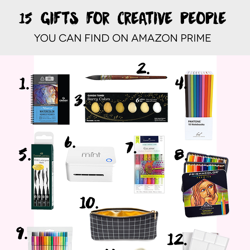 15 Gift Ideas for Creative People (on Amazon Prime)