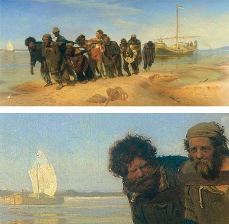 Ilya Repin - Volga Boatmen