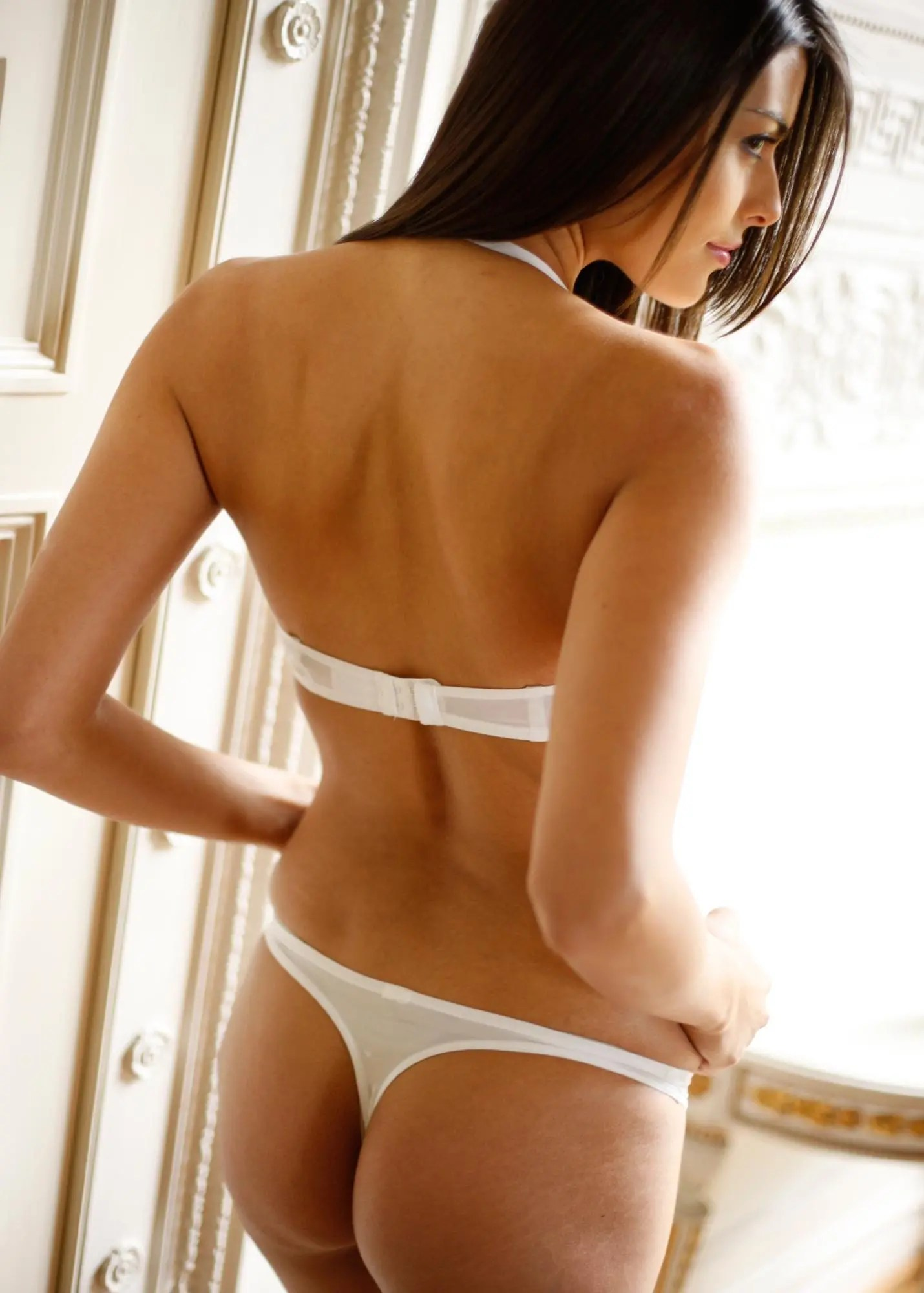White Thong Bra Halter Neck
