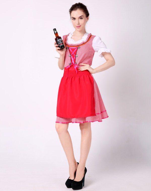 Plaid Sexy Beer Girl Costume - Lingerie