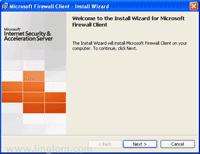 Setup Microsoft Firewall Client