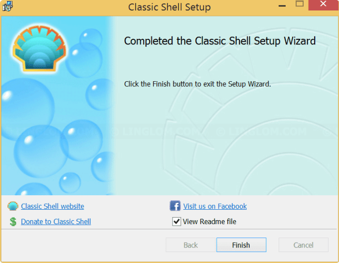 Finished install Classic Shell