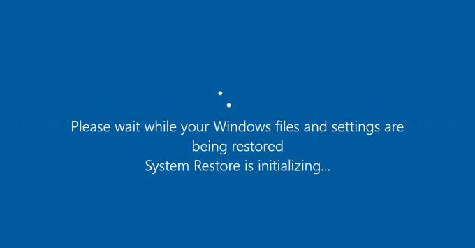 Restoring Windows system