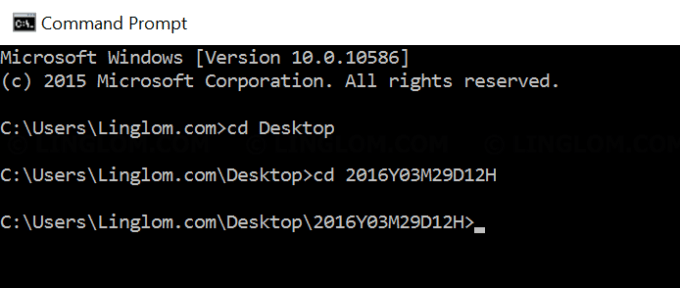 Change path on Command Prompt