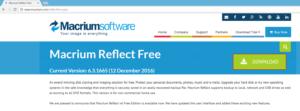 Macrium Reflect web page
