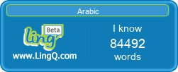 I Am Learning Arabic online with LingQ.
