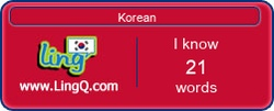 I Am Learning Korean online with LingQ.