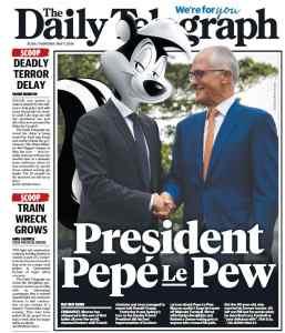 the daily telegraph pépé le pew