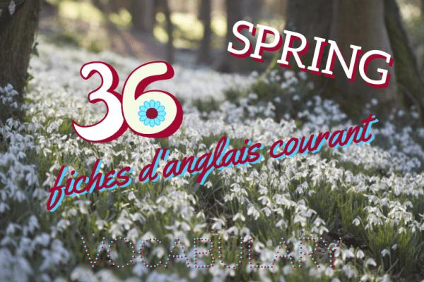 🌷 Le printemps arrive ! 🌈 Et avec lui viennent également 36 nouvelles fiches de vocabulaire anglais courant