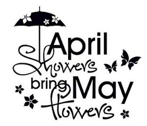 """April showers bring May flowers"""