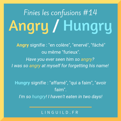 Fiche num 14 angry vs hungry