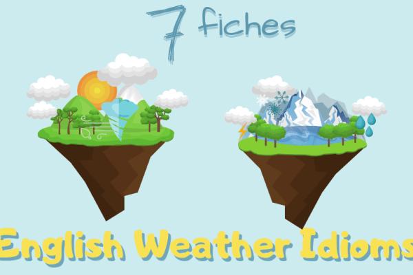 7 expressions anglaises sur la météo 🌞 (Partie 1)