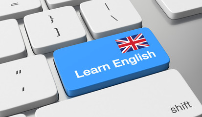 learn English key button
