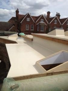 Cream Fibreglass roof at Colchester Zoo