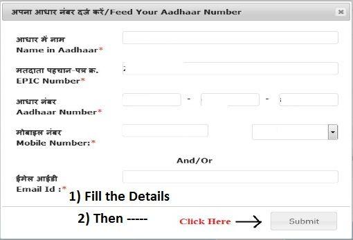 Link Aadhaar With Voter card