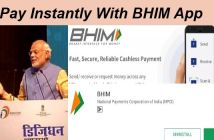 cashless payment with bhim app